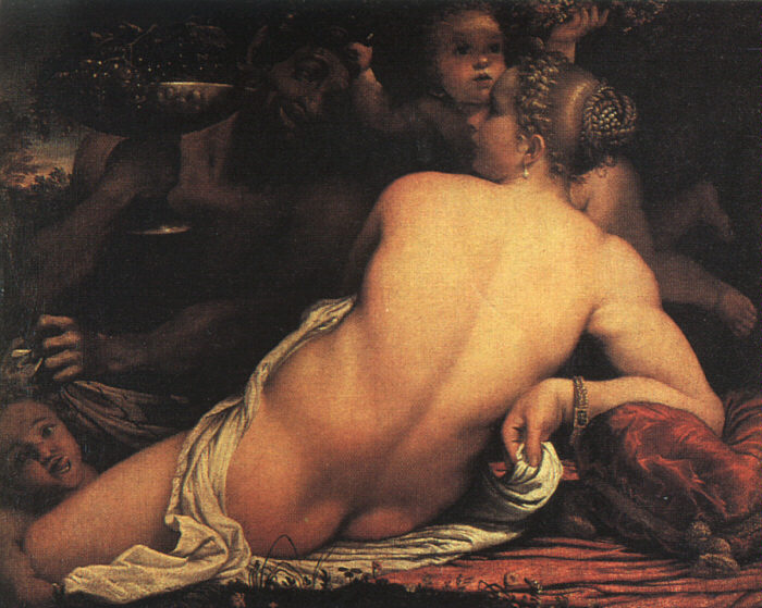 Venus with Satyr and Cupid - Annibale Carracci