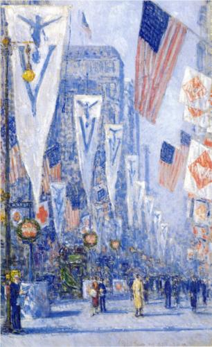 Victory Day, May - Childe Hassam