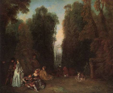 View Through the Trees (La Perspective) - Jean Antoine Watteau