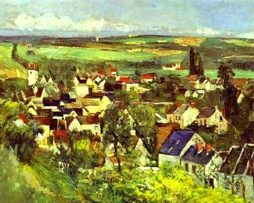 View of Auvers - Paul Cezanne