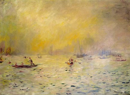 View of Venice, Fog - Pierre Renoir