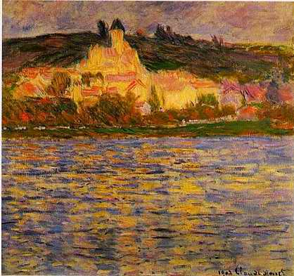 View of Vetheuil - Claude Monet