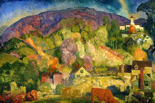 Village on the Hill - George Bellows