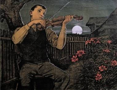 Violin Player to the Moon - Hans Thoma