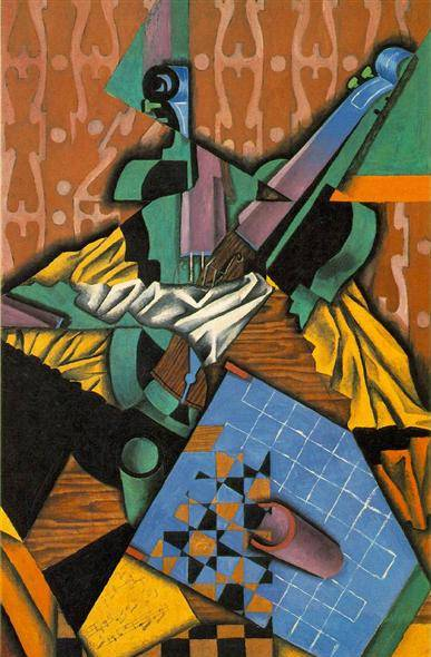 Violin and Checkerboard - Juan Gris