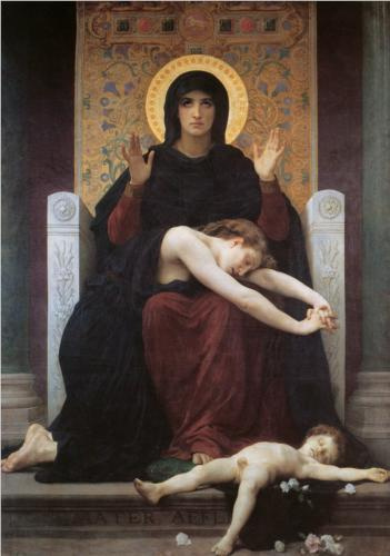 Virgin Comforter - William Adolphe Bouguereau