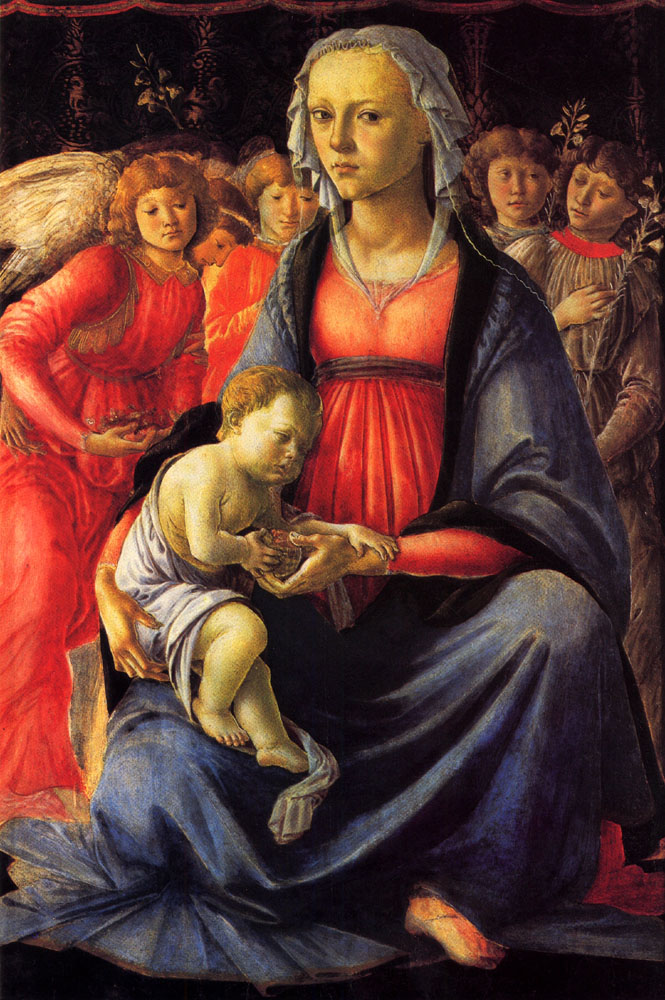 Virgin & Child with Five Angels - Sandro Botticelli