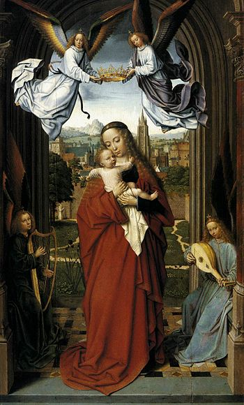 Virgin and Child with Four Angels - Gerard David