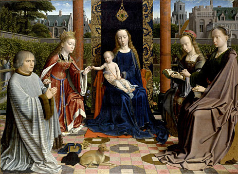 Virgin and Child with Saints and Donor - Gerard David