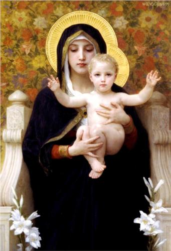 Virgin of the Lilies - William Adolphe Bouguereau