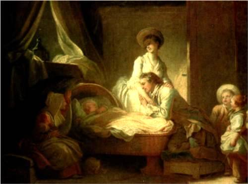 Visit to the Nursery - Jean Honore Fragonard