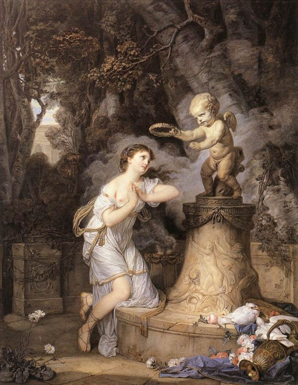 Votive Offering to Cupid - Jean Baptiste Greuze