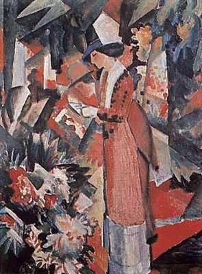 Walk Among Flowers - August Macke
