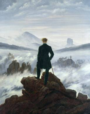 Wanderer Above the Sea of Fog - Caspar David Friedrich