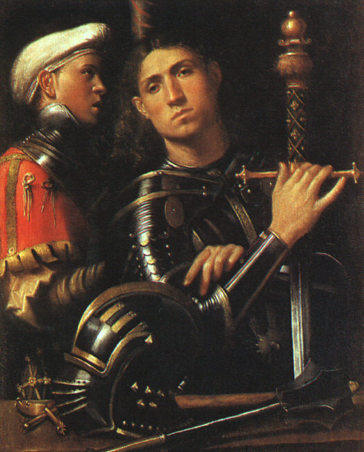 Warrior with Shield Bearer - Giorgione (Giorgio Barbarelli da Castelfranco)