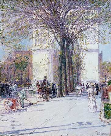 Washington Arch in Spring - Childe Hassam
