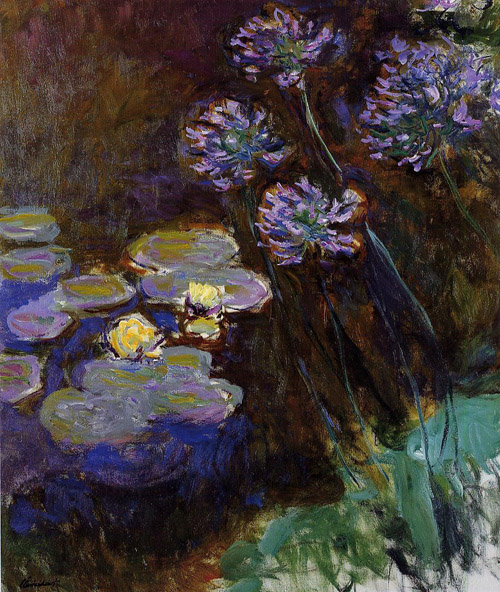 Water Lilies and Agapanthus 1914 - Claude Monet