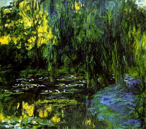 Water Lily Pond and Weeping Willow - Claude Monet