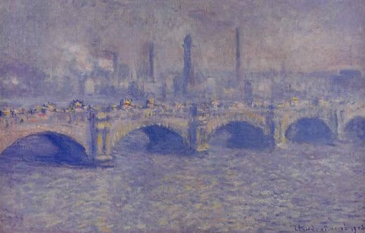 Waterloo Bridge in Sunlight - Claude Monet