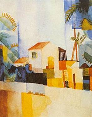Weibes Haus 1914 Tunis - August Macke