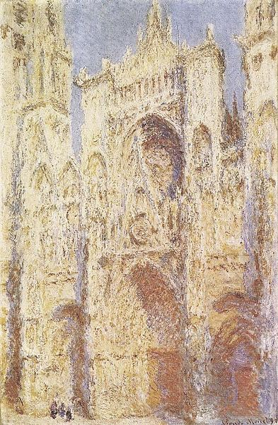 West Facade, Sunlight, Rouen Cathedral 1892 - Claude Monet