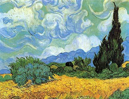 Wheat Field with Cypress - Vincent van Gogh