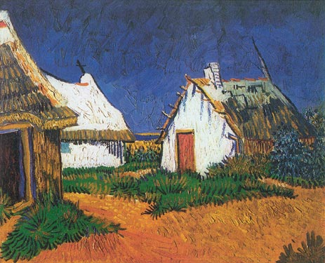 White Cottages in Saintes Maries - Vincent van Gogh