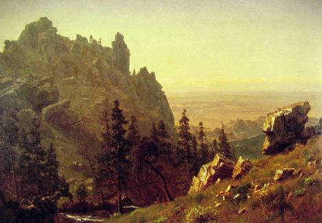 Wind River, Wyoming - Albert Bierstadt
