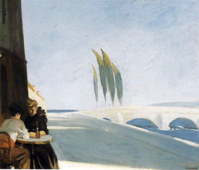 Wine Shop (Le Bistro) - Edward Hopper