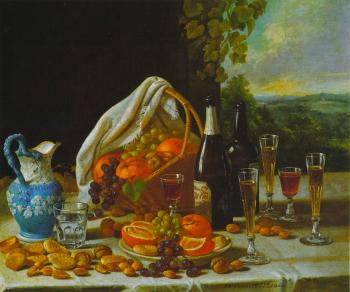 Wine and Fruit - John F Francis