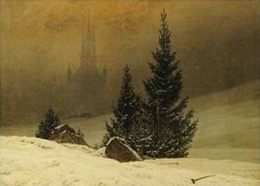 Winter Landscape with a Church - Caspar David Friedrich