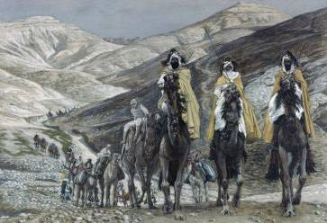 Wise Men Journeying to Bethlehem - James Tissot