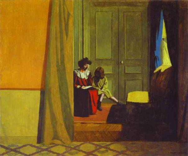 Woman Reading to a Small Girl - Felix Vallotton