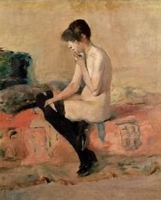 Woman Seated on a Divan - Henri de Toulouse Lautrec