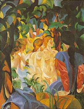 Woman Taking a Bath - August Macke