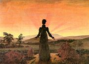 Woman in Front of the Setting Sun - Caspar David Friedrich