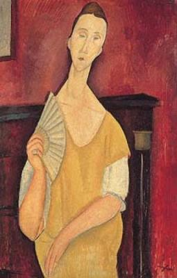 Woman with Fan - Amedeo Modigliani