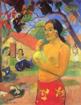 Woman with Mango - Paul Gauguin