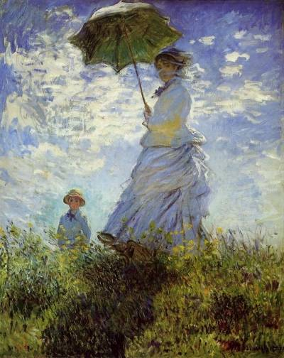 Woman with Parasol - Claude Monet