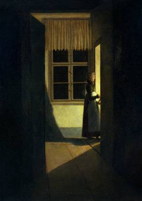 Woman with the Candlestick - Caspar David Friedrich