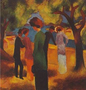 Women in a Green Jacket - August Macke