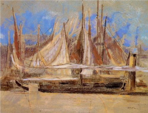 Yachts at Royan - Odilon Redon
