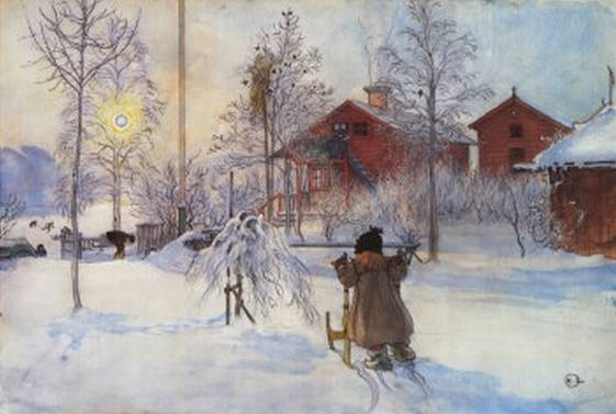 Yard and the Washhouse - Carl Larsson