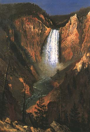 Yellowstone Falls - Albert Bierstadt