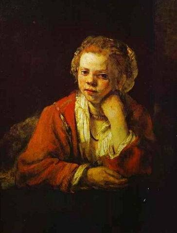 Young Girl at the Window - Rembrandt van Rijn
