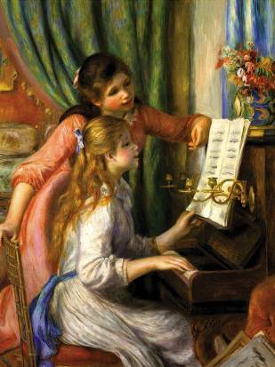 Young Girls at the Piano - Pierre Auguste Renoir