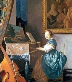 Young Lady Seated at a Virginal - Jan Vermeer van Delft