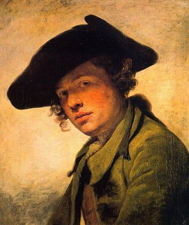 Young Man in a Hat - Jean Baptiste Greuze