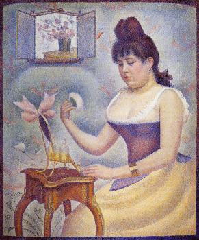 Young Woman Powdering Herself - Georges Seurat